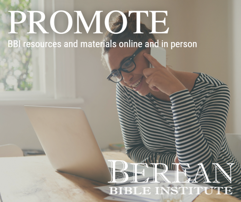 Champions of Grace purposefully promote BBI resources and materials online and in person.